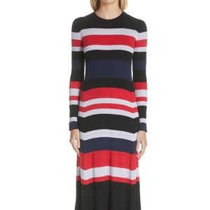 Wool, Silk & Cashmere Stripe Sweater Dress